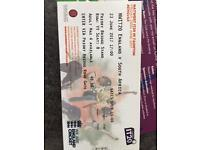 A ticket to the IT 20 England vs South Africa at Taunton