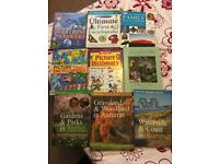 Collection of kids encyclopaedias