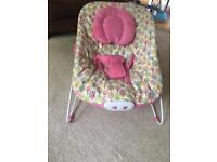 Pink baby bouncer mothercare