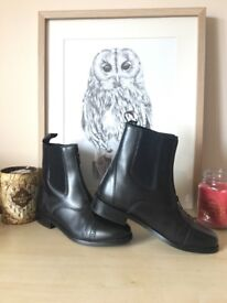 TOGGI Black Augustus Ankle Riding Boots Size 6