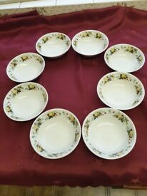 ROYAL DOULTON SMALL SHALLOW DISHES MIRAMONT PATTERN PRICE IS FOR ALL