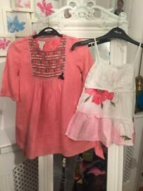 2 girls Monsoon tops worn once ! Age 7-8