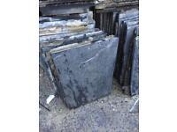 Reclaimed slate slabs