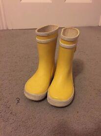 Aigle Baby-Flac Boots -- Yellow EU22