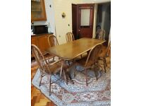 Oak Refractory table and chairs