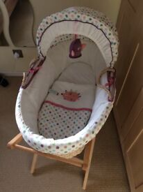 Lolly Pop Lane Moses basket with stand