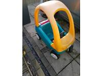Go kart , cosy coupe and sit in car with parent handle