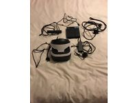 Ps4 vr unit with camera and the game gran turismo