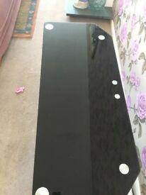 Large black TV stand - 3 tier, immaculate