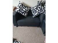 Free!!!!! Two seater black sofa