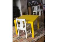 Wooden Kids table and chair