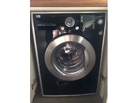 LG 8kg Capacity Steam Direct Drive 1400spin Washing Machine BLACK