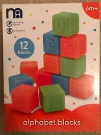 Mothercare Alphabet Blocks - Brand New in Box