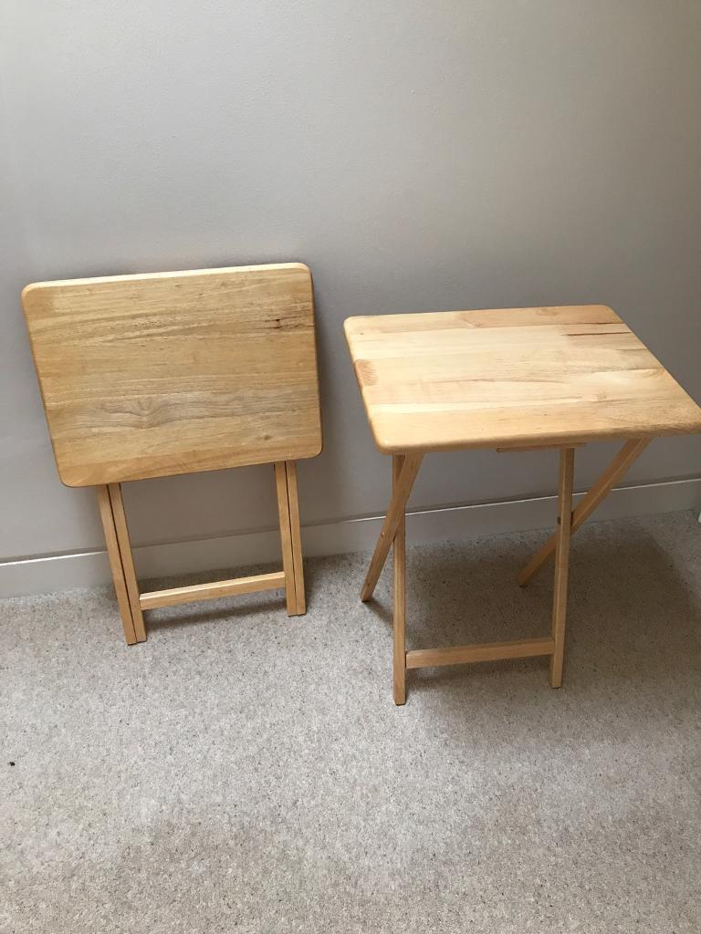 Folding side tables x 2