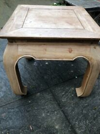 Vintage bowed legged unusual pine table