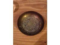 Oriental old bronze dish