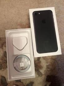 iPhone 7 matte black 128gb unlocked sealed brand new