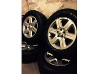MAKE ME AN OFFER! Landrover alloy wheels and tyres discovery range rover land 5x120 defender 255/55