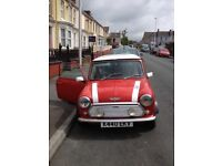 1992 CLASSIC MINI COOPER 1275cc SPI FLAME RED with WHITE ROOF