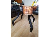 Log top coffee table