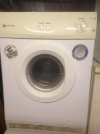 7 kilo vented white knight dryer