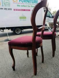 Velvet topped dining chairs £10 each