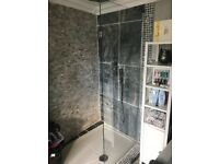 Glass shower screen NEW