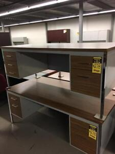 """USED Office Furniture 72"""" X 36"""" Double Pedestal Desk"""