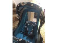 Push chair stokke £100 Buggie blue prince £80 Cream leather buggy Emmaljunga£80