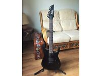 7 String Ibanez GIO Black EXCELLENT CONDITION