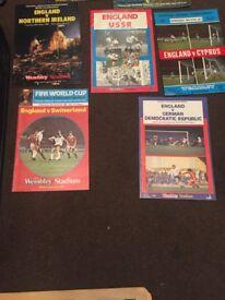 England football programmes for sale