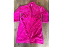 Girls Debenhams pink dressing gown age 9-10