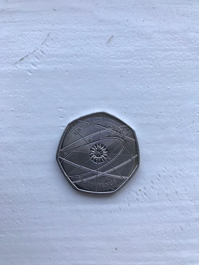 Sir Isaac Newton 50 pence