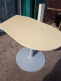 Quality Light oak effect desk extension with centre leg