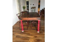 Beautiful large wooden rustic table