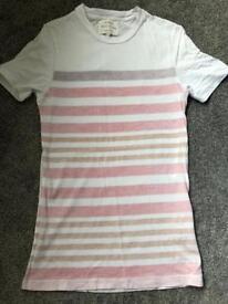 River island red stripe tshirt xxs
