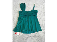Emerald Green One Shouldered Top Size 16 BNWT
