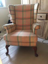 Vintage 1950's Welsh Blanket Parker Knoll Fireside Chair