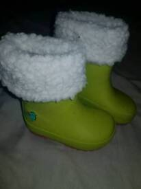 Girls wellies size infant 3 vgc