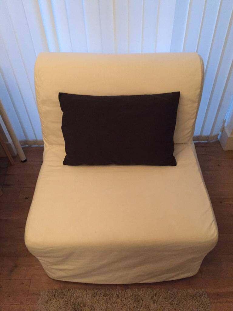 white ikea single sofa bed in stoke newington london. Black Bedroom Furniture Sets. Home Design Ideas