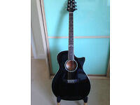 Superb Crafter QT solid maple/spruce electro-acoustic guitar - brand new and absolute bargain