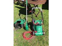 Qualcast rotary mower and grass trimmer