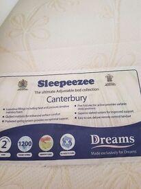 Dreams single electric bed