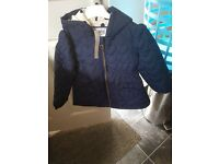 Navy blue ladybird autumn coat in age 4-5