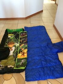 2 childrens sleeping bags