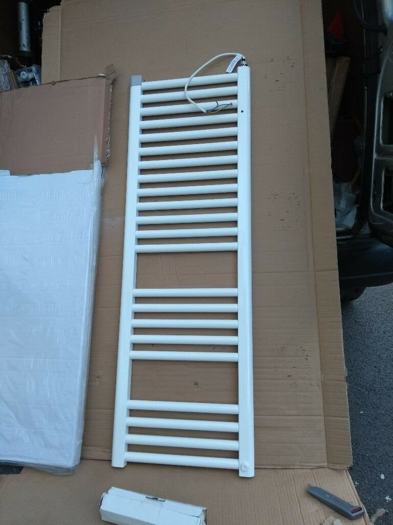 white bathroom towel radiator electric, 1200x400mm | in Risca ...