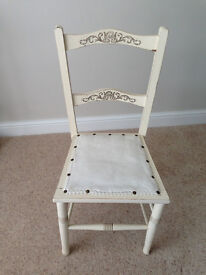 "Two small ""shabby chic"" bedroom chairs"