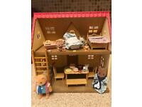 Sylvanian Families cottage Fully Furnished