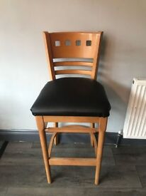 BAR STOOLS - HIGH BACKED. GOOD QUALITY.