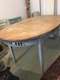Vintage upcycled retro cool table and chairs